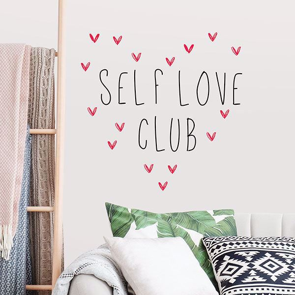 Picture of Self Love Club Wall Quote Decals