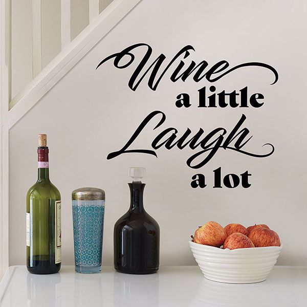 Picture of Wine a Little Laugh a lot Wall Quote Decals
