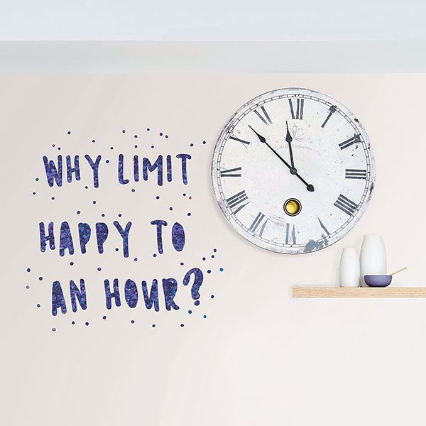 Picture of Dont Limit Happy Hour Wall Quote Decals
