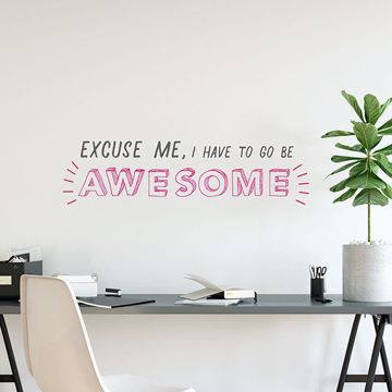 Picture of Go Be Awesome Wall Quote Decals