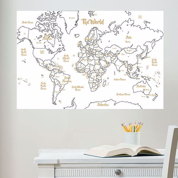 Picture of Glam Dry Erase Map