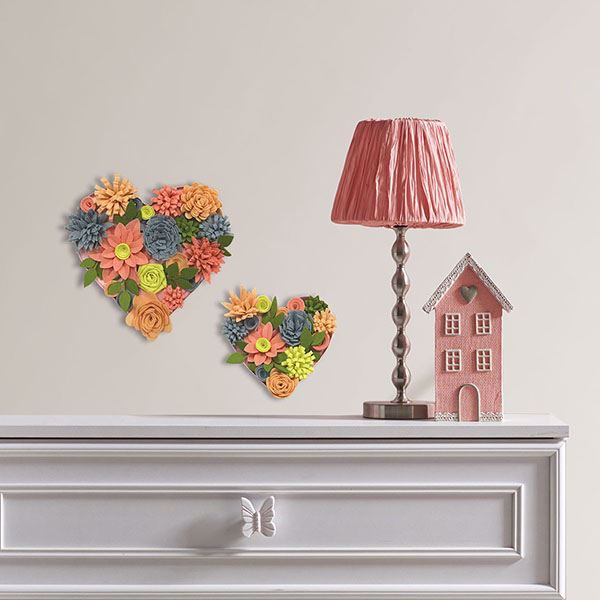 Picture of Heart Bouquet 3D Wall Art Kit