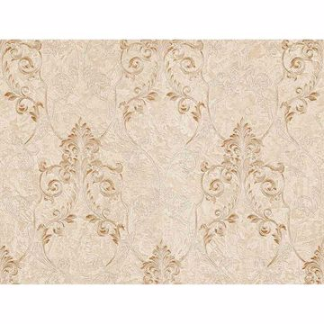 Picture of Damasco Samba Cream Scroll Damask Wallpaper
