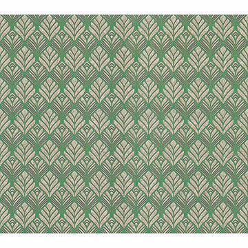 Picture of Dis Lambada Green Ogee Wallpaper