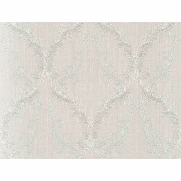 Picture of Dis Rumba Off-White Scroll Damask Wallpaper