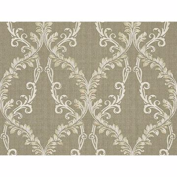 Picture of Dis Rumba Gold Scroll Damask Wallpaper