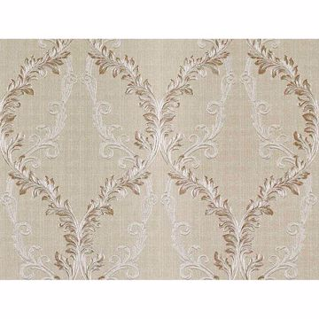 Picture of Dis Rumba Cream Scroll Damask Wallpaper