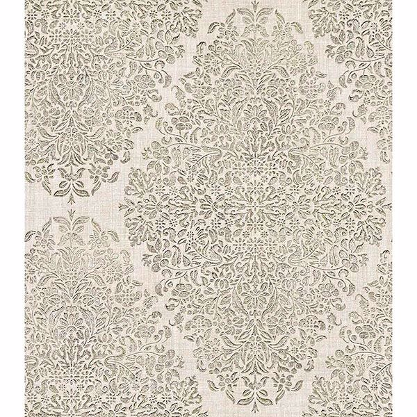 Picture of Dis Neroz Ivory Damask Wallpaper