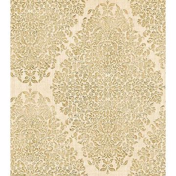 Picture of Dis Neroz Cream Damask Wallpaper