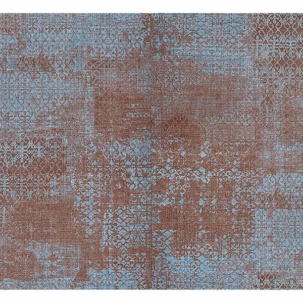 Picture of Allover Nero Blue Ironwork Texture Wallpaper
