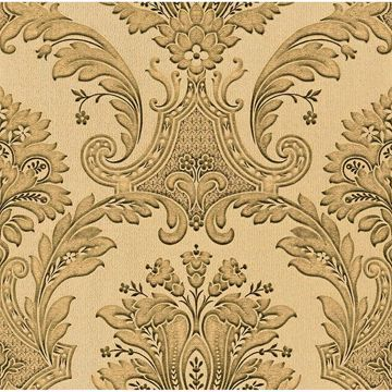 Picture of Dis Marco Polo Taupe Damask Wallpaper