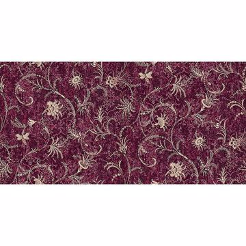 Picture of Dis Libellula Burgundy Jacobean Wallpaper