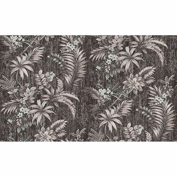 Picture of Dis Legolas Black Botanical Wallpaper