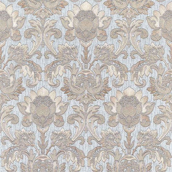 Picture of Dis Scudo Light Blue Damask Wallpaper