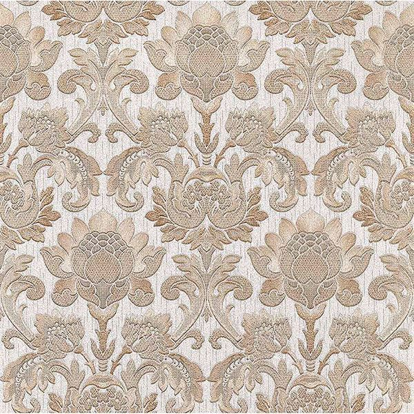 Picture of Dis Scudo Beige Damask Wallpaper