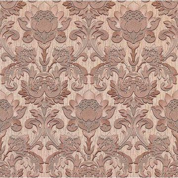 Picture of Dis Scudo Pink Damask Wallpaper
