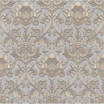 Picture of Dis Scudo Silver Damask Wallpaper