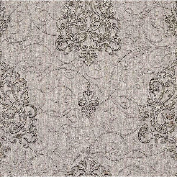 Picture of Dis Zeno Silver Damask Wallpaper
