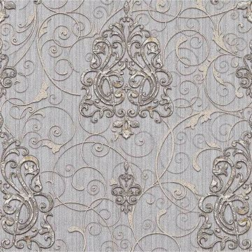 Picture of Dis Zeno Periwinkle Damask Wallpaper