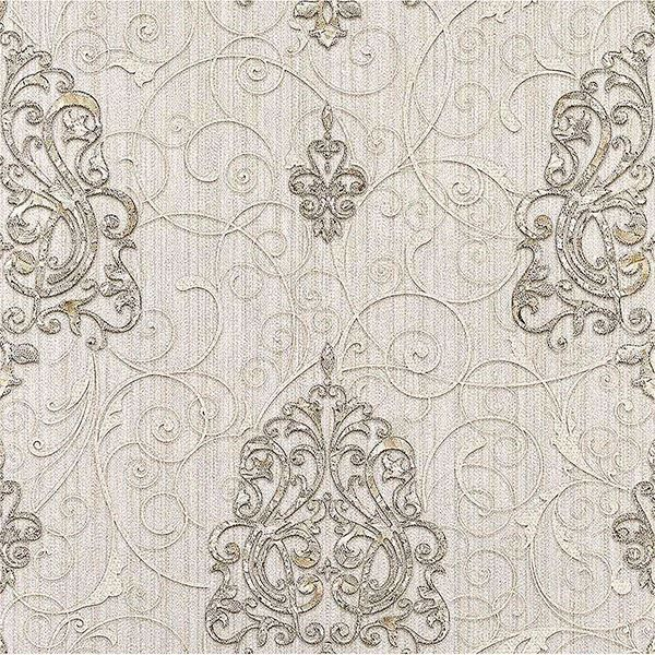 Picture of Dis Zeno White Damask Wallpaper