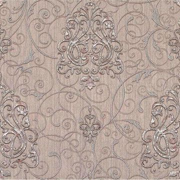 Picture of Dis Zeno Blush Damask Wallpaper