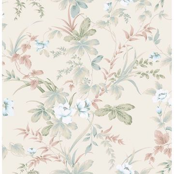 Picture of Begg Rock Cream Botanical Wallpaper