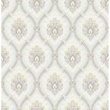 Picture of Heyer Ivory Ogee Wallpaper