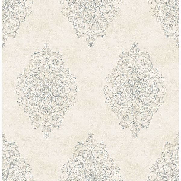 Picture of Garwood Cream Damask Wallpaper