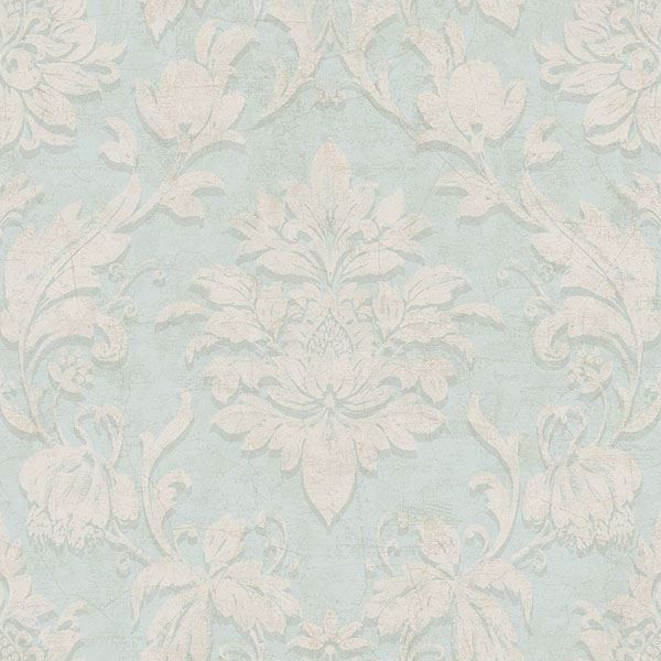 Picture of Amer Sage Damask Wallpaper