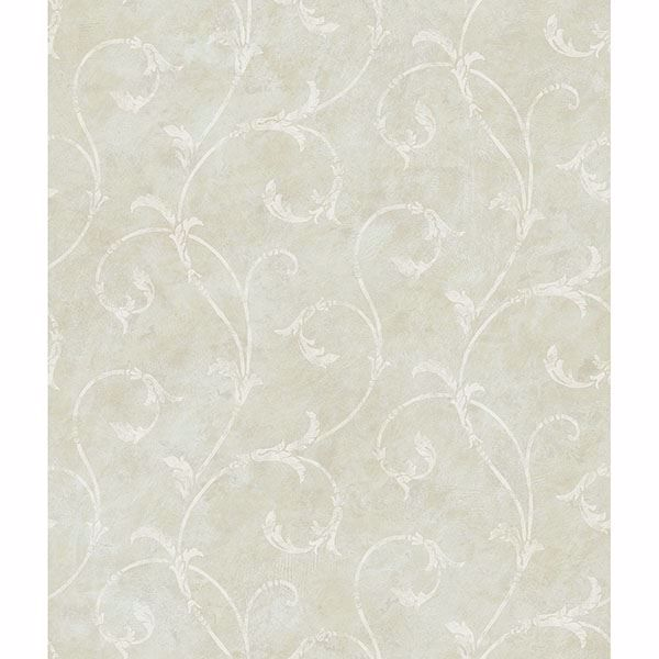 Picture of Carigan Grey Scroll Wallpaper