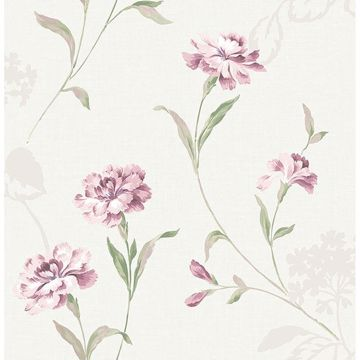 Picture of Caserta Pink Floral Wallpaper