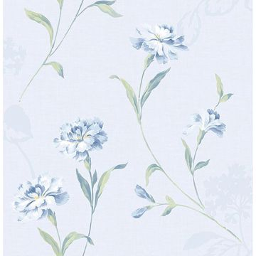 Picture of Caserta Blue Floral Wallpaper