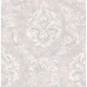 Picture of Hofburg Light Grey Damask Wallpaper