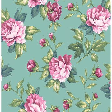 Picture of Catherine Green Floral Wallpaper