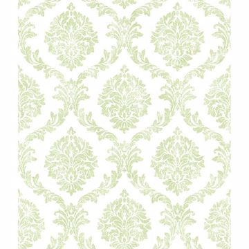Picture of Saint Malo Lime Damask Wallpaper