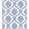 Picture of Saint Malo Blue Damask Wallpaper
