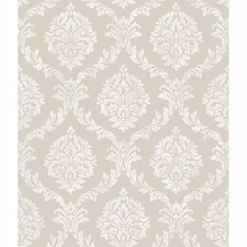 Picture of Saint Malo Beige Damask Wallpaper