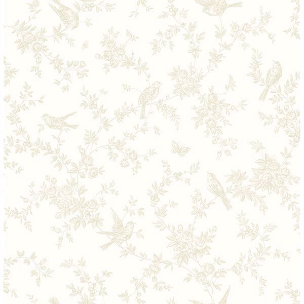 Picture of Mafra Light Yellow Floral Trails Wallpaper