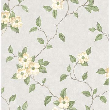 Picture of Nantes Light Grey Floral Trails Wallpaper