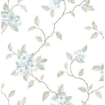Picture of Nantes Light Blue Floral Trails Wallpaper