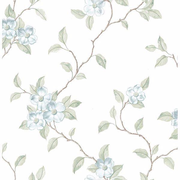 Picture of Nantes Light Blue Floral Trails Wallpaper