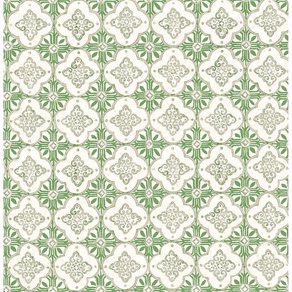 Picture of Seville Green Geometric Tile Wallpaper