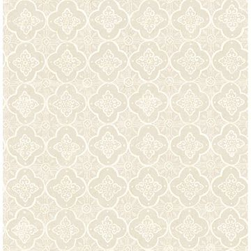 Picture of Seville Beige Geometric Tile Wallpaper