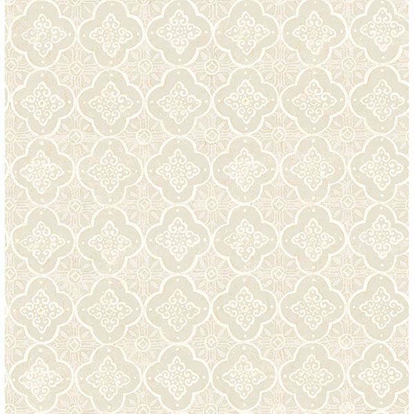 Picture of Seville Beige Geometric Tile Wallpaper
