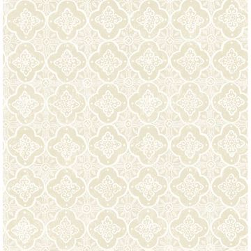 Picture of Seville Wheat Geometric Tile Wallpaper