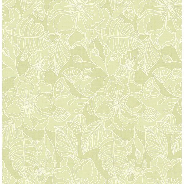 Picture of Toulouse Lime Floral Wallpaper