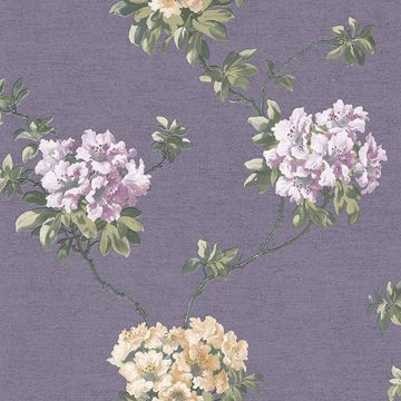 Picture of Dijon Purple Floral Wallpaper