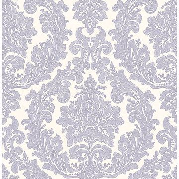 Picture of Reims Lavender Damask Wallpaper
