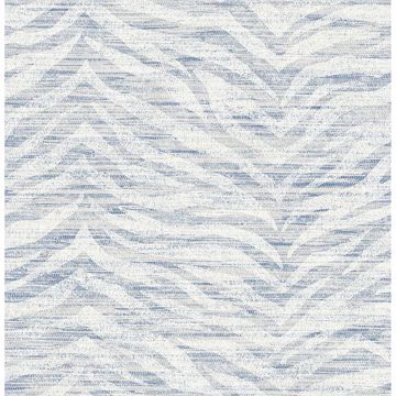 Picture of Antibes Blue Chevron Texture Wallpaper