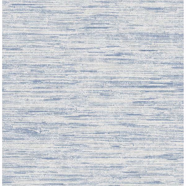 Picture of Le Mans Blue Faux Grasscloth Texture Wallpaper